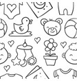 collection stock of baby design doodles vector image vector image