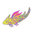 colorful cartoon fantasy funny flying animal vector image