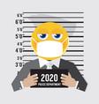 coronavirus outbreak prisoner emoji icon 2020 vector image vector image