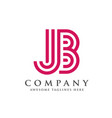 creative and simple letter jb vector image vector image