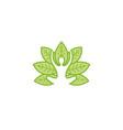creative body leaf logo vector image vector image