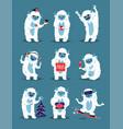 cute yeti abominable snowman bigfoot sasquatch vector image