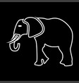 elephant it is icon vector image vector image