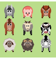 farm animals and related items vector image vector image