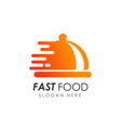 fast food logo design food delivery logo vector image vector image