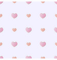 flat seamless pattern with pink hearts on vector image vector image