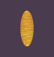 flat shading style icon mitochondrion vector image vector image
