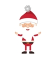 full color santa claus with glasses vector image