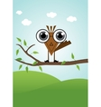 funny cute little bird vector image vector image