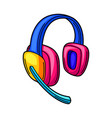 gaming headphones cyber sports vector image vector image