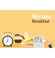 Good Morning Breakfast Banner vector image