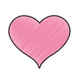 grated cute heart sign love decoration design vector image vector image