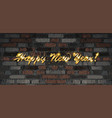 happy 2020 new year vector image