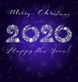 happy new year card 2020 greeting card vector image vector image