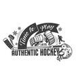 hockey monochrome concept vector image vector image