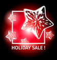 holiday sale banner with luminous dynamic stars vector image vector image