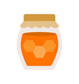 honey jar isolated on white background flat style vector image vector image