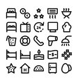 Hotel and Restaurant Icons 13 vector image vector image