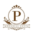 imperial font design vector image vector image