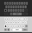 keyboard smartphone back vector image