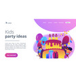 kids birthday concept landing page vector image