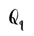 Letter alphabet calligraphy Handwritten vector image vector image