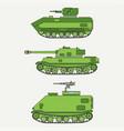 line flat color icon set infantry assault vector image vector image