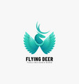 logo flying deer gradient colorful style vector image vector image