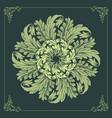 mandala ornaments design floral green vector image vector image