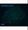 map burkina faso world map vector image vector image