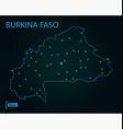 map burkina faso world map vector image