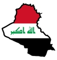 Map in colors of Iraq vector image vector image