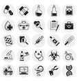 medical icons set on circles background for vector image