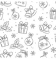 merry christmas seamless pattern for wrapping vector image