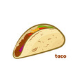 mexican taco isolated on vector image vector image