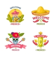 Mexican Welcome Emblem Set vector image vector image