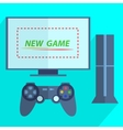 Modern game console vector image vector image
