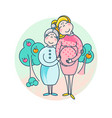 mothers day happy family - mother and daughter vector image