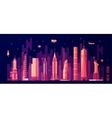 New York city skyline flat style vector image vector image