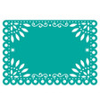 papel picado template design in turquoise vector image vector image