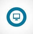 pc bold blue border circle icon vector image vector image