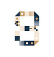 pixel art number eight colorful number 8 consist vector image