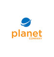 planet business logo design vector image