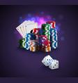 poker stack of poker chips vector image vector image