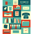 Retro office collection vector | Price: 1 Credit (USD $1)