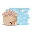 sack with walnut food vector image