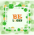 saint patrick holiday frame background vector image vector image
