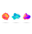 set abstract liquid shape fluid banner vector image vector image