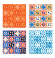set abstract multicolored pixels squares textured vector image vector image