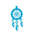 silhouette cute dream catcher with feathers design vector image vector image